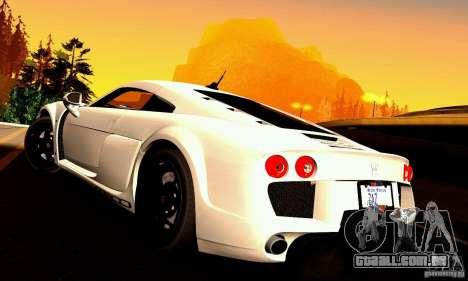 Noble M600 para GTA San Andreas vista superior