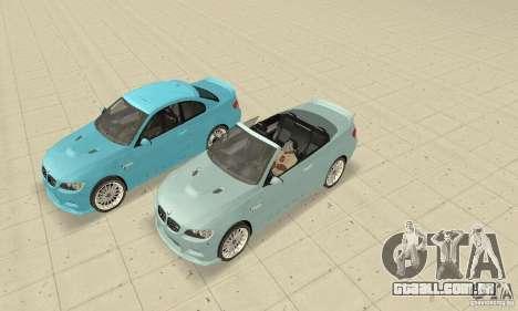 BMW M3 2008 Hamann v1.2 para GTA San Andreas traseira esquerda vista
