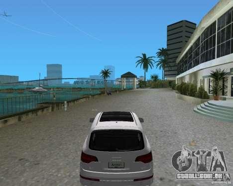 Audi Q7 v12 para GTA Vice City deixou vista