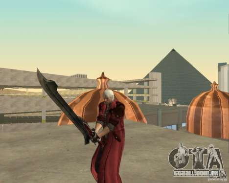 Nero sword from Devil May Cry 4 para GTA San Andreas