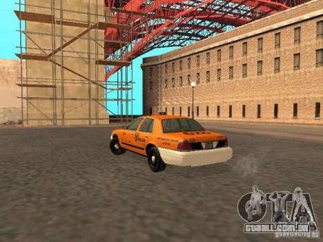 Ford Crown Victoria San Francisco Cab para GTA San Andreas vista direita