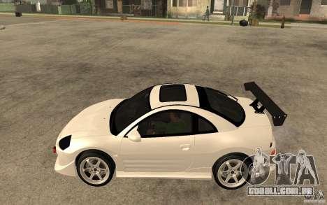 Mitsubishi Eclipse 2003 V1.5 para GTA San Andreas esquerda vista