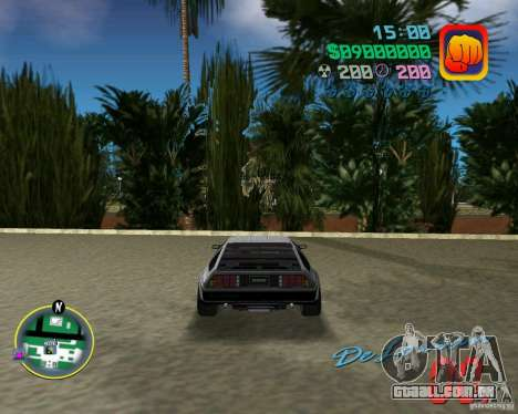 DeLorean DMC 12 para GTA Vice City vista interior