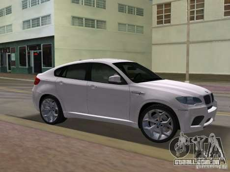 BMW X6M para GTA Vice City vista traseira