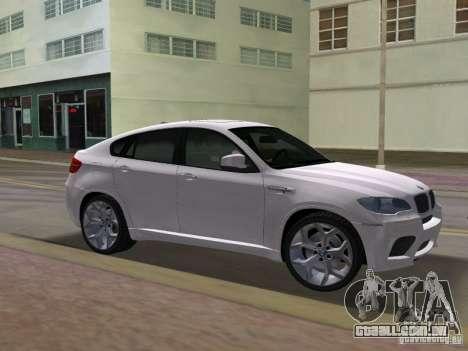BMW X6M para GTA Vice City vista traseira