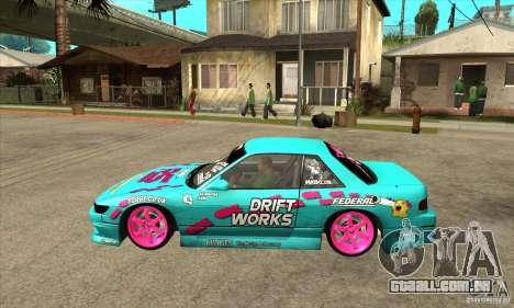 Nissan Silvia S13 Drift Works para GTA San Andreas esquerda vista