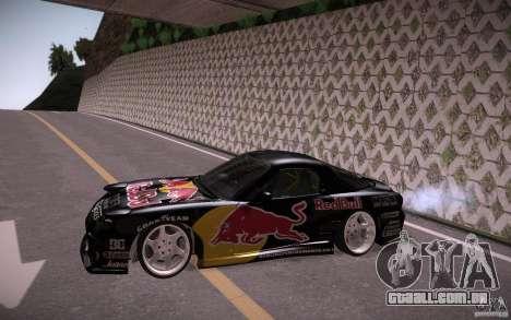 Mazda RX7 Madmikes Redbull para GTA San Andreas esquerda vista