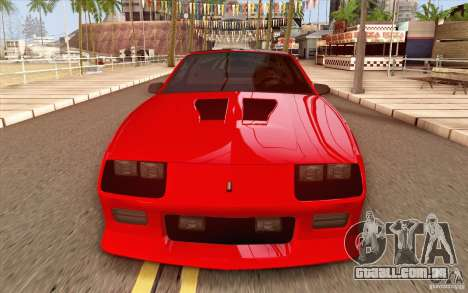 Chevrolet Camaro Z28 Targa Top 1986 para GTA San Andreas vista interior