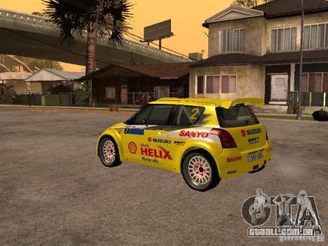 Suzuki Swift Rally para GTA San Andreas vista direita