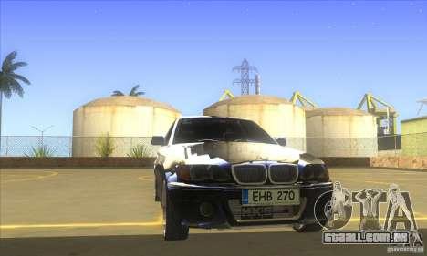 BMW 325i E46 v2.0 para GTA San Andreas vista interior