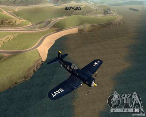 Aereo Corsair F4U1D para GTA San Andreas vista direita