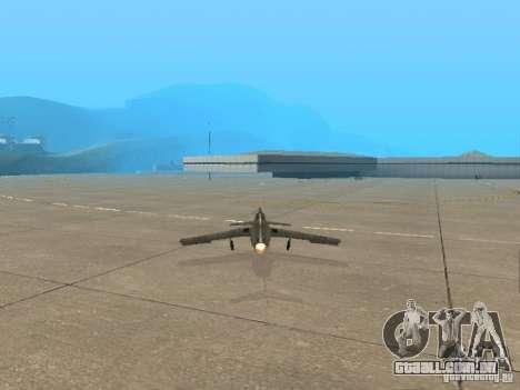 MiG-15 com armas para GTA San Andreas traseira esquerda vista