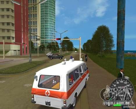 RAF 2203 ambulância para GTA Vice City deixou vista