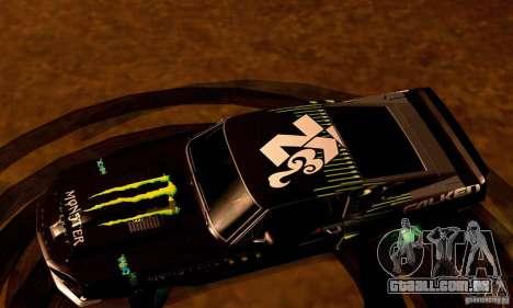 Shelby GT500 Monster Drift para GTA San Andreas interior