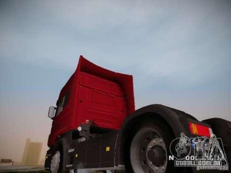 Scania R580 Topline para GTA San Andreas traseira esquerda vista
