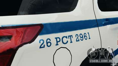 Ford Explorer NYPD ESU 2013 [ELS] para GTA 4