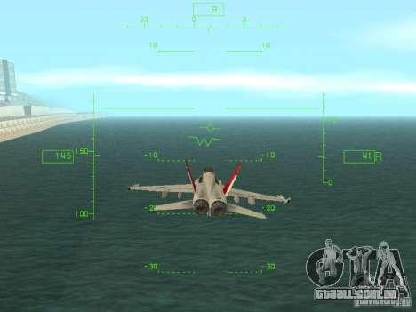 Aviação HUD para GTA San Andreas segunda tela