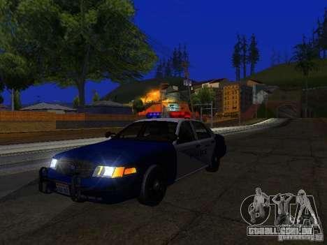Ford Crown Victoria Belling State Washington para vista lateral GTA San Andreas