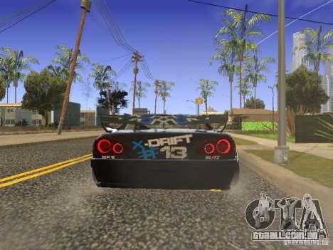 Elegy Drift Korch v2.1 para GTA San Andreas traseira esquerda vista