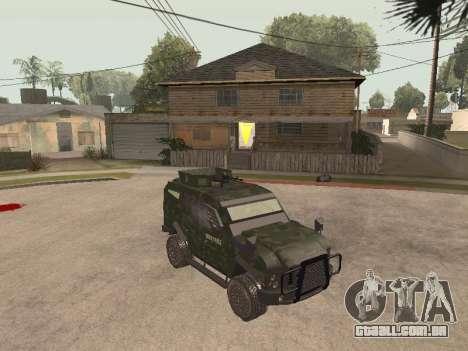 Oshkosh SandCat of Mexican Army para GTA San Andreas esquerda vista