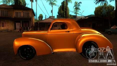 Americar Willys 1941 para GTA San Andreas esquerda vista