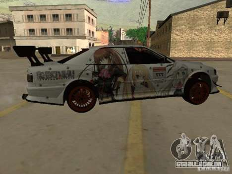 Toyota Chaser JZX100 Tuning by TCW para vista lateral GTA San Andreas