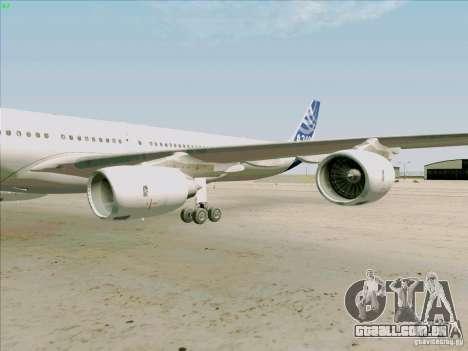 Airbus A-340-600 para GTA San Andreas vista interior
