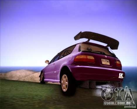 Honda Civic 1994 para GTA San Andreas esquerda vista