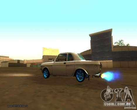 Gaz Volga 2410 Drift Edition para vista lateral GTA San Andreas