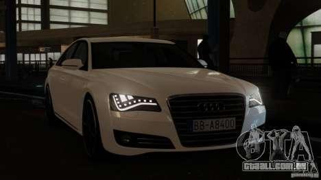 Audi A8 (D4, Typ 4H) 2010 Alpha para GTA 4 vista direita