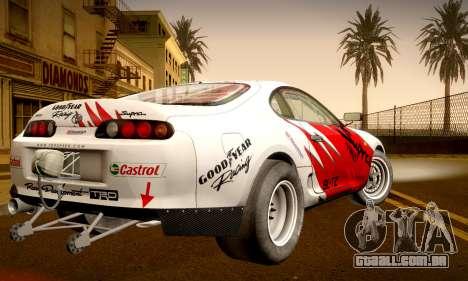 Toyota Supra JZA80 RZ Dragster para GTA San Andreas vista interior