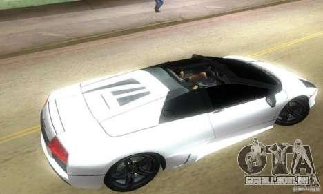 Lamborghini Murcielago LP640 Roadster para GTA Vice City deixou vista