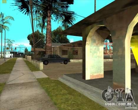 Car in Grove Street para GTA San Andreas quinto tela