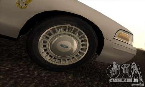 Ford Crown Victoria Colorado Police para GTA San Andreas vista direita