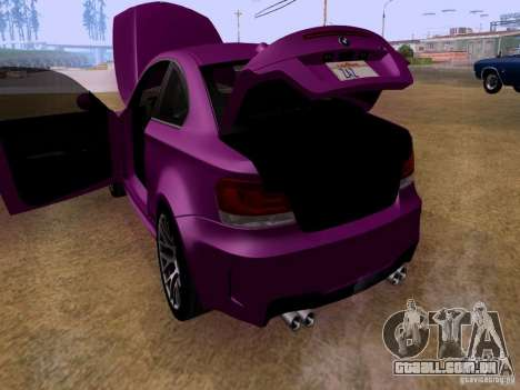 BMW 1M  2011 para vista lateral GTA San Andreas