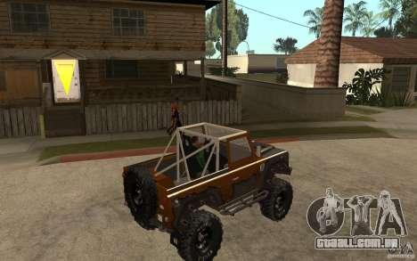 Land Rover Defender Extreme Off-Road para GTA San Andreas vista direita