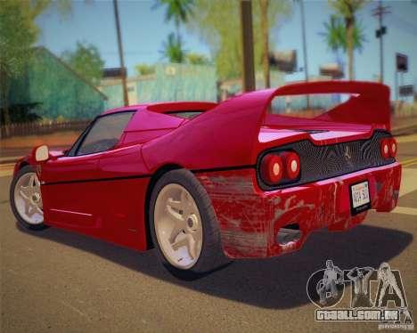 GTA IV Scratches Style para GTA San Andreas quinto tela