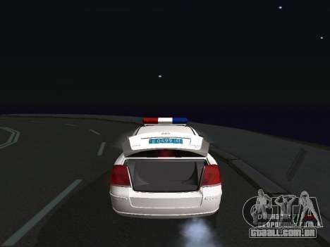 Toyota Avensis DPS para GTA San Andreas vista direita