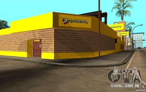 O Euroset loja para GTA San Andreas terceira tela