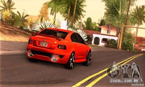 Holden HSV GTS para GTA San Andreas vista traseira