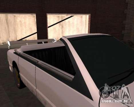 Táxi Cabriolet para GTA San Andreas vista interior