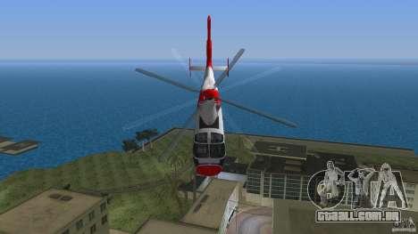 Eurocopter As-365N Dauphin II para GTA Vice City vista lateral