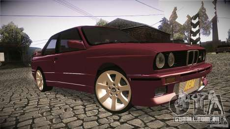 BMW M3 E30 para GTA San Andreas vista traseira