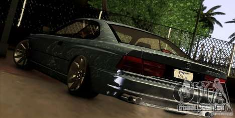 BMW 850 CSI para GTA San Andreas vista direita