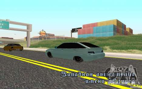 Ajuste de luz VAZ-2112 para GTA San Andreas esquerda vista