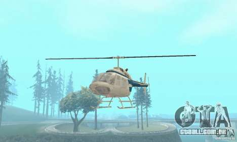 Bell 206B JetRanger II para GTA San Andreas vista direita