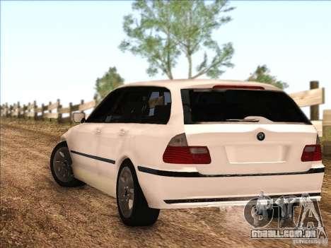 BMW M3 E46 Touring para GTA San Andreas traseira esquerda vista
