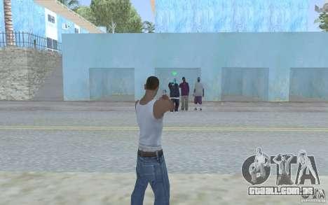Vista azul para GTA San Andreas segunda tela