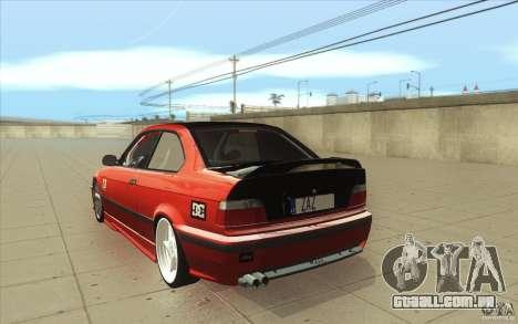 BMW Fan Drift Bolidas para GTA San Andreas traseira esquerda vista