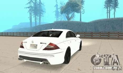Mercedes-Benz CLS 63 AMG para GTA San Andreas traseira esquerda vista